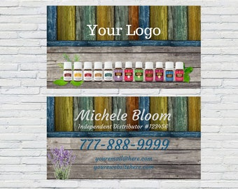 Wood Essential Oils Business Card, Small Business, Independent Distributor, Wellness Advocate, Rustic, Download, Printable, Personalized