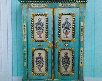 Wardrobe. Case furniture.Miniature, Dollhouse. Scale 1:12