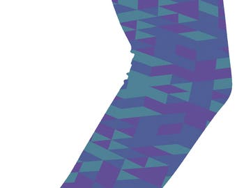 Geometric Turquoise Compression Arm Sleeve - Youth Arm Sleeves - Kid Arm Sleeves - Man Arm Sleeves - Womens Arm Sleeves - FREE Shipping G79