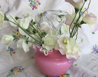 Pink Glass Blown Glass Vase from the 1950s
