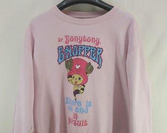 CLEARANCE SALE /// 20% Vintage Dr Tony Tony Chopper Sweatshirt Street Wear Swag Sweater Size LL