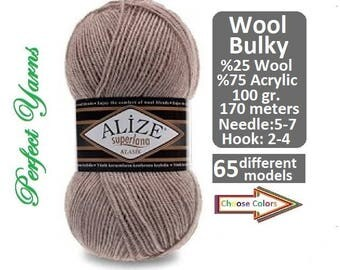 Alize Superlana Midi, knittting, crochet, wool yarn, winter yarn, lana, acrylic yarn, crochet yarn, hand knitting, alize yarn
