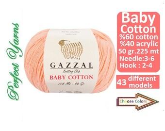 Gazzal baby Cotton, cotton yarn, Knitting Yarn, crochet yarn, baby yarn, yarn, hypoallergenic yarn, gazzal, gazzal baby yarn, baby cotton