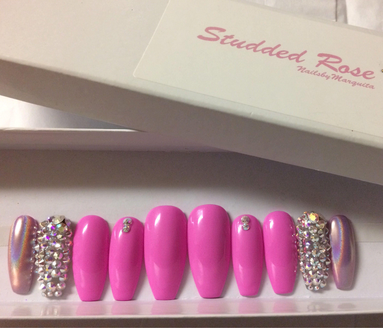 Bad boujeecustom designer press on nails any shape and size sold by studdedrosenails prinsesfo Choice Image