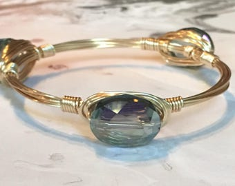 Crystal Wire Bangles | Wire Bangle | Stackable Bangle | Bangle | Stone Bangles | Wire Bangle Bracelet