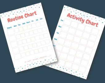 Printable Kid's Routine Chart and Activity Chart