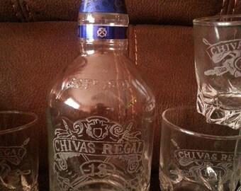"Whiskey 7 serving pieces ""Chivas"""