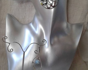 "Earrings ""Silver floral patterns"""
