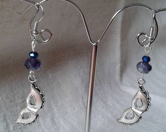 Earrings silver Carnival mask