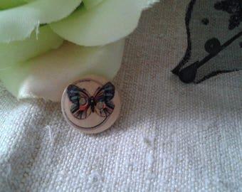 set of 6 Butterfly motif buttons