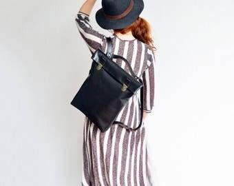 Leather Backpack/ Leather rucksack/ Women/ Tote/ Bag/Laptop/ Laptop bag/ Minimalist/ Casual bag/ Macbook backpack/ Office backpack