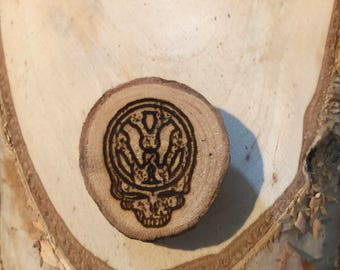 Small VW Steal Your Face, Wood Magnet