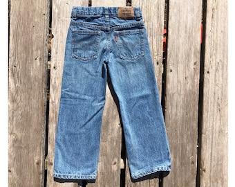 """Levi's Kid's Sz 6 Reg Red Tab Medium Wash 21"""" Vintage Jeans"""