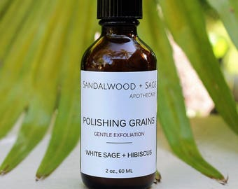 White Sage + Hibiscus Polishing Grains with Clay (2oz) // cleansing grains // buffing grains // detoxifying grains