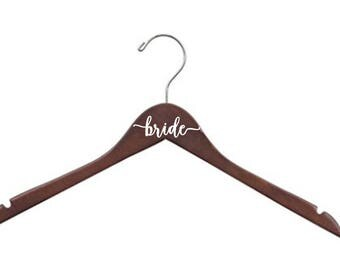 8 Personalized Bridesmaid - Bride - Wedding Hangers