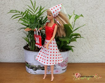 Vintage style for Barbie or other doll set. Hand made