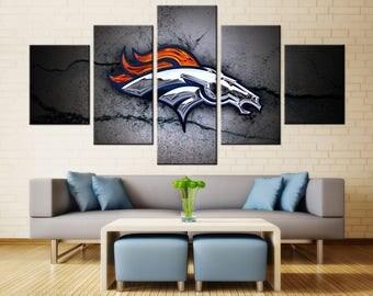 Broncos Wall Art broncos wall decor | etsy