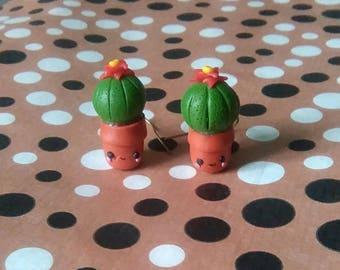 Mini Cactus Kawaii earrings