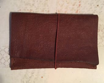 Rustic Brown Minimalist Leather Wallet