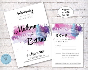 Wedding Invitations, Do it yourself wedding invitations, Printable wedding invitations, custom designed wedding invitations