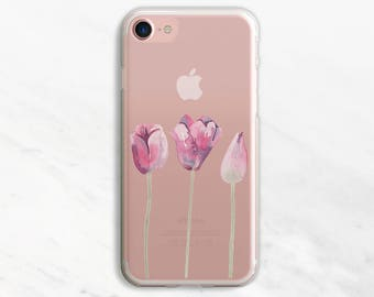 Tulips iPhone 7 Case Clear iPhone 6 Case Clear iPhone 6 Plus Case Clear iPhone 7 Plus Case Clear iPhone Case Clear