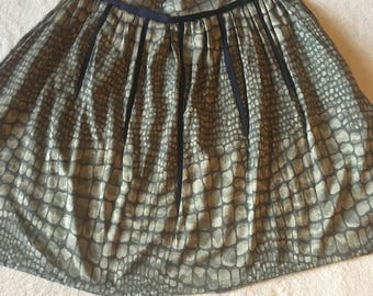 Skirt, Crocodile Print