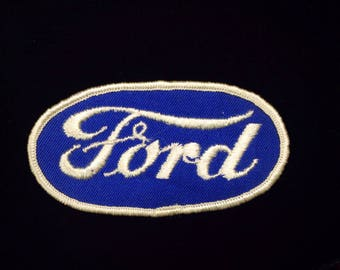 Vintage Ford Auto Oval Embroidered Uniform Patch, Ford Logo Sew On Embroidered Patch