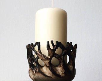 Birch candle holder.