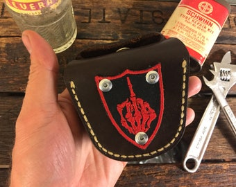 Chinese Leather Ammunition Pouch