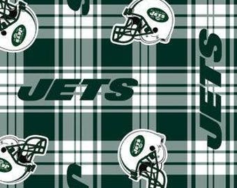 New York Jets Fleece Tied Blanket