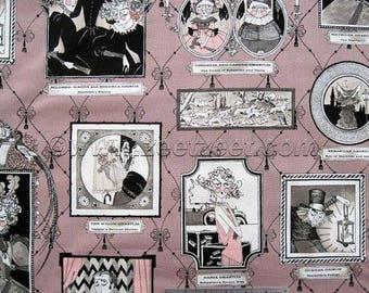 GHASTLIE FAMILY by ALEXANDER HENRY FABRICS purple patchwork fabric