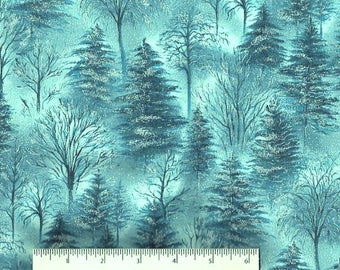 patchwork blue and silver Winter Solstice fabric Hoffman fabric