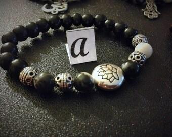 Black and White Zebra Jasper genuine gemstone jewelry