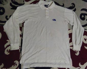 vintage THE NORTH FACE polos long sleeve embroidered size L
