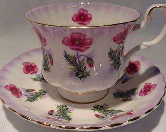 Royal Albert Bone China Tea Cup and Saucer # 4469