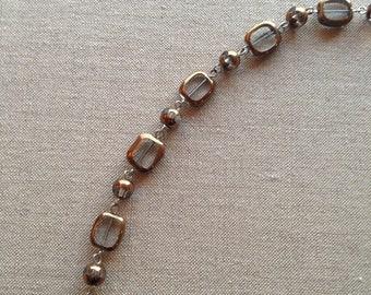 Vintage glass bead necklace c1970s
