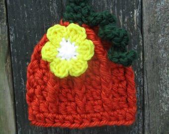 Pumpkin Hat Baby Pumpkin Hat Newborn Halloween Pumpkin Baby Hat Pumpkin Crochet Hat Crochet Pumpkin Hat Crochet Baby Hat Halloween Photo