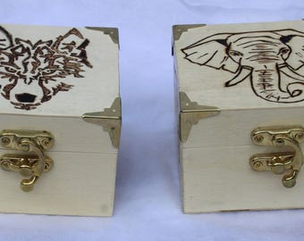 Small Wooden Trinket Boxes - Different Designs - Pyrography Designs