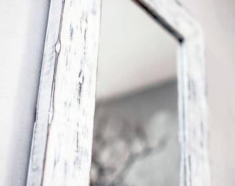 wooden rustic mirror