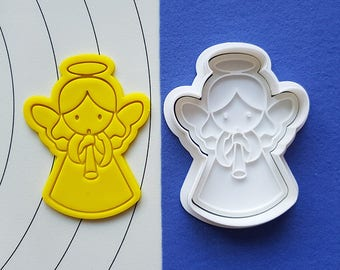 Female Angel Trumpeter  Cookie Cutter and Stamp