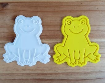 A Frog  Cookie Cutter and Stamp