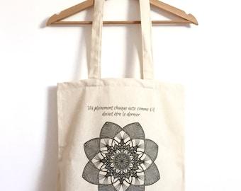 Bag / Tote bag organic cotton / Mandala