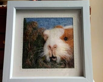 Beautiful needle felted 3D guinea pig picture