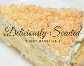 1/2 or 1 oz COCONUT CREAM PIE Fragrance Oil for candles, soap, perfume oil, cosmetics, soap making, best, pure, skin safe, supply, sample
