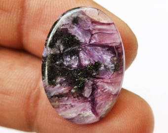 New Gemstone Natural Charoite Oval Cabochon, Size 24X17X2 MM, Loose Semi Precious, Gemstone Jewellery, Handmade Pendant Stone, Supplies 6722
