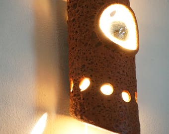 Retro Wall lamp vintage space age ceramic sconce