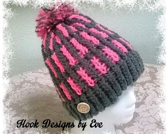 Knitted Winter Hat ~ Warm and cozy to keep you warm ~ Handmade in USA
