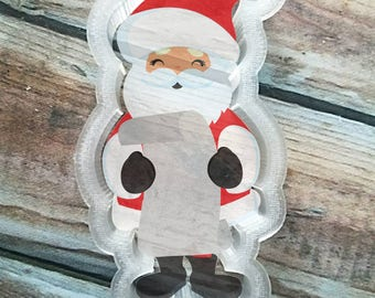 santa with name list cookie cutter