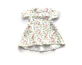 Floral Dress // Floral Play Dress // Organic Dress // Summer Dress // Baby Girl Dress // Toddler Girl Dress // Girls Dress