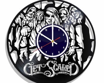 Wall clock Get Scared rock band with original design